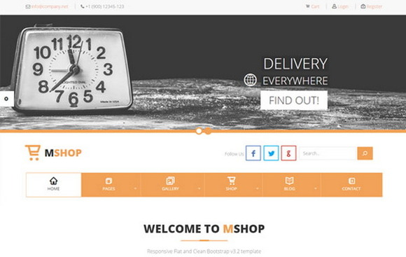 MShop E-Commerce Delivery Theme