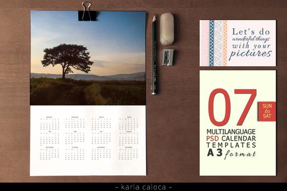 2015 A3 Calendar Kit SUN To SAT