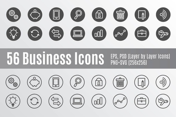 56 Business Icons