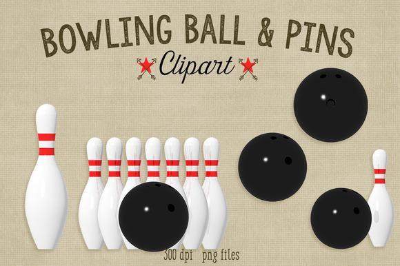 Bowling Ball Pins Clipart