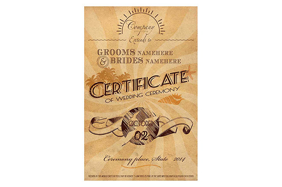 Caribbean Wedding Certificate
