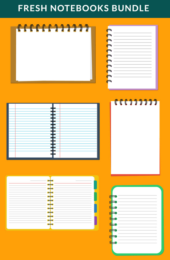 Fresh Flat Notebooks Bundle