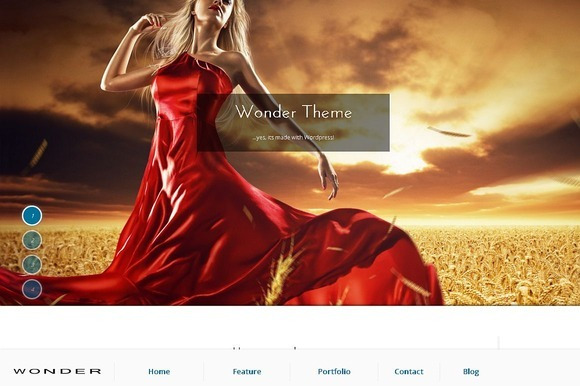 Wonder Fullscreen WordPress Theme