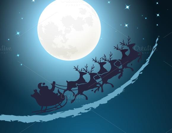 Santa Christmas Background