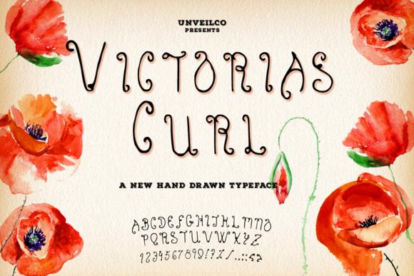 Victoria S Curl Typeface