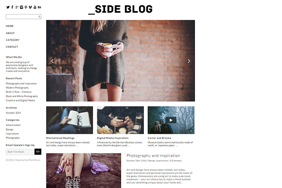 Side Blog Responsive WordPress Theme