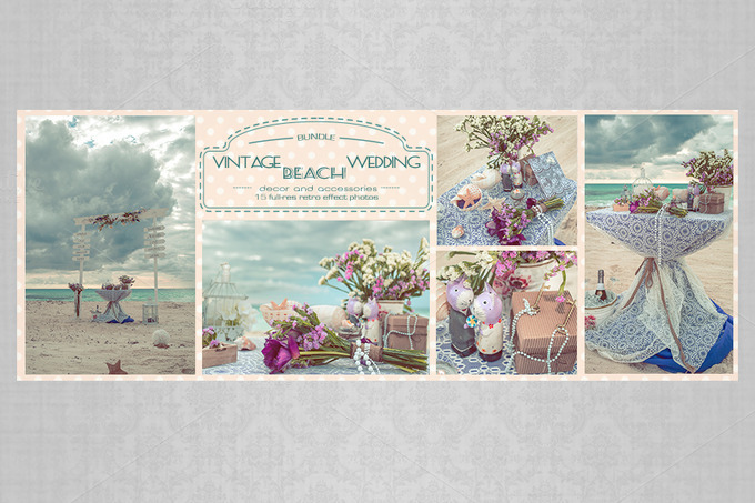 Bundle Vintage Beach Wedding Arch