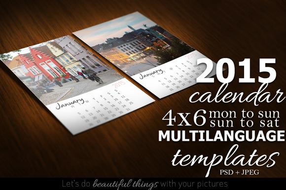 2015 Calendar Kit 4x6