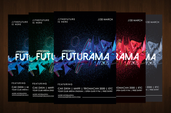 Futuristic Abstract Flyer Template