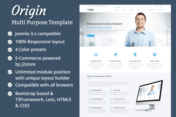 Tp Origin-Multipurpose Joomla Theme