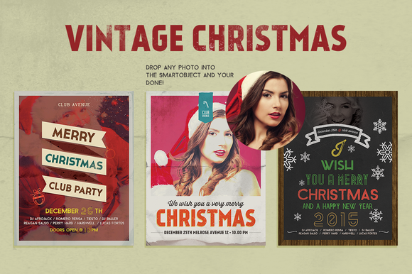 Christmas Flyer Posters Vintage