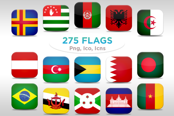275 Rounded Flags