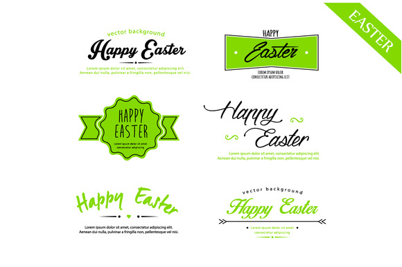 Easter Set Calligraphy