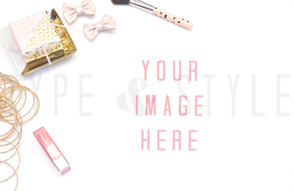 Styled Stock Photo Pink Vanity