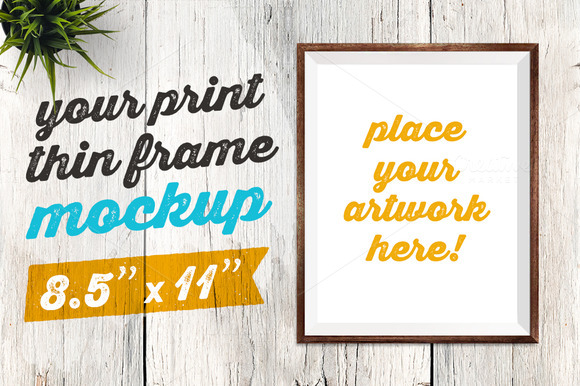 Your Print Thin Frame Mockup