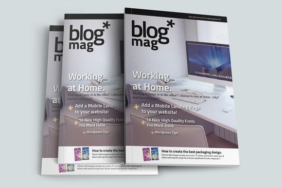 BlogMag Print Magazine Blog Style