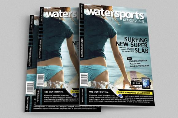 WaterSports Indesign Magazine Templ