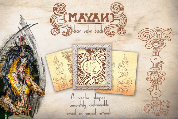 Bundle Mayan Decor Vectors