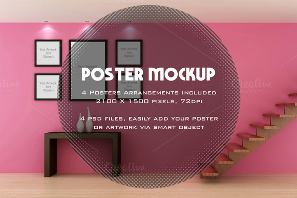 Poster Artwork Interior Mockup
