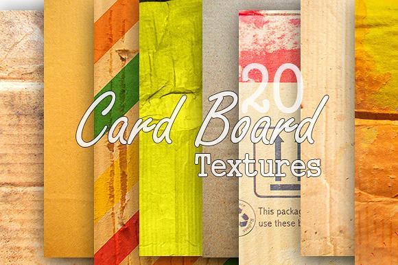 20 Card Board Textures`