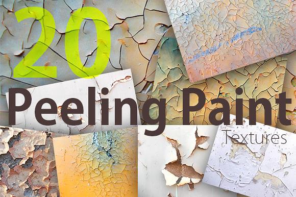 20 Peeling Paint Textures Pack