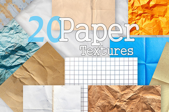 20 Paper Textures Pack