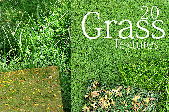 20 Grass Textures Background Pack