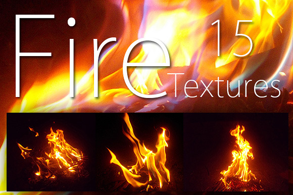 15 Simple Fire Texture Background