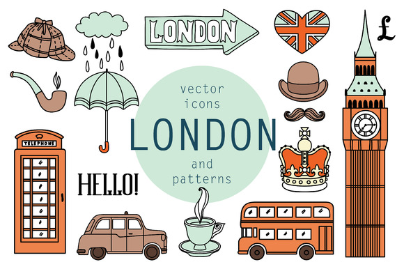 London Vector Icons And Pattern