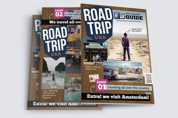 Road Trip Magazine Template