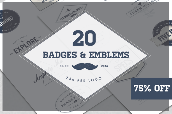 20x Badge Emblem Bundle