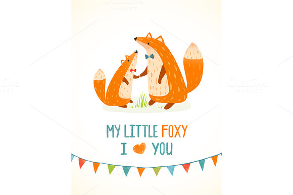 Mother Fox And Foxy Child
