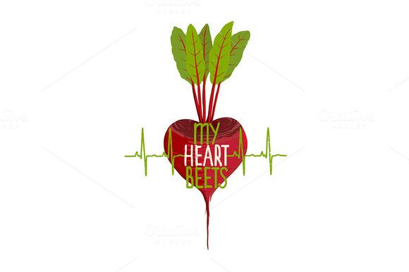 Beetroot Heart Vegetable Dieting