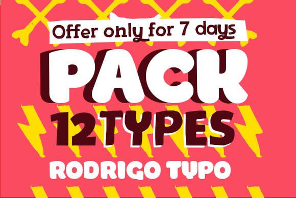 Pack 12 TYPES RODRIGOTYPO
