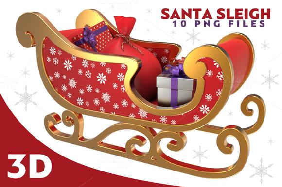 Santa Sleigh 3D