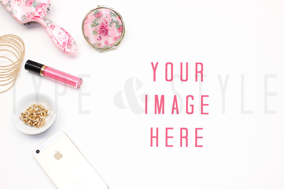 Styled Stock Photo Vanity Mock Up