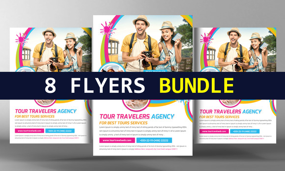 8 Corporate Business Flyers Bundle