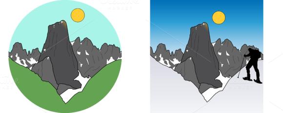 Mountain Landscapes Vector