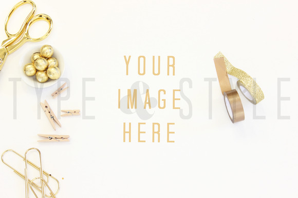 Styled Stock Photo Gold Desktop
