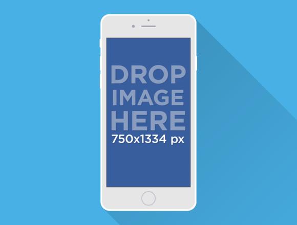 Illustrated IPhone 6 Mockup