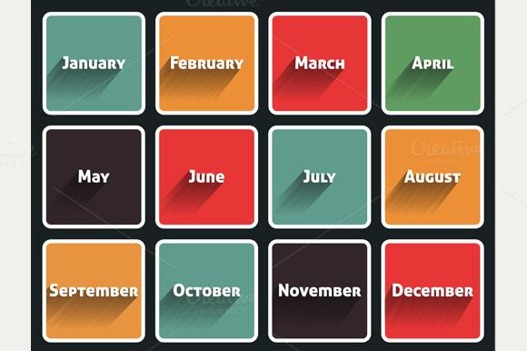 Month Flat Design