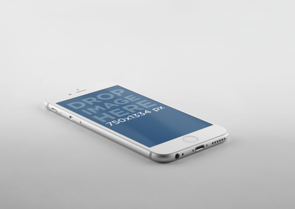 IPhone 6 Mockup Over Grey Background