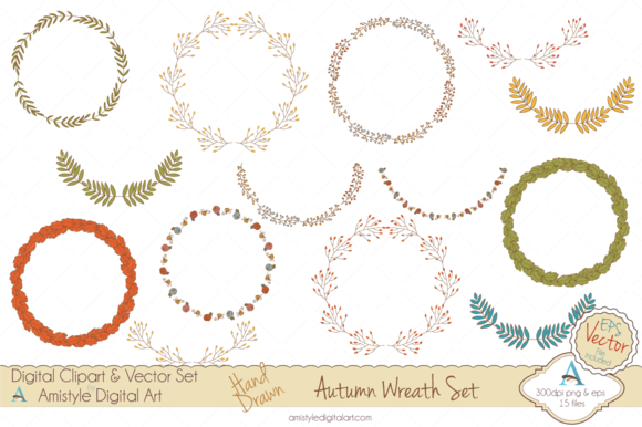 Autumn Wreath Clipart Vector