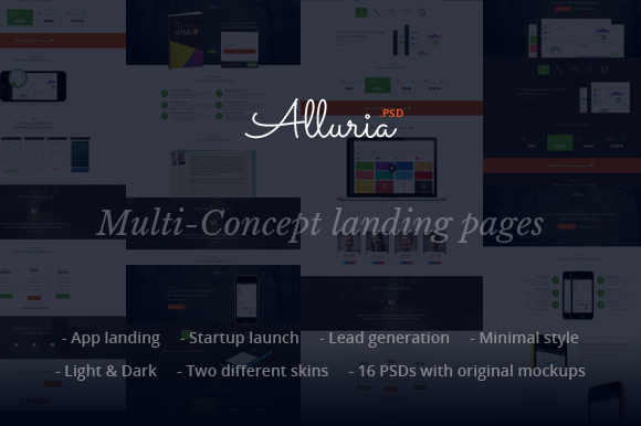 Alluria Multi-Concept Landing Pages