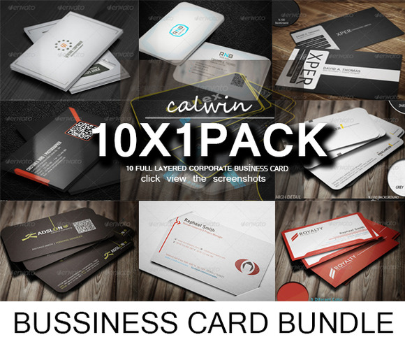 10 In 1 Business Crad Bundle 1