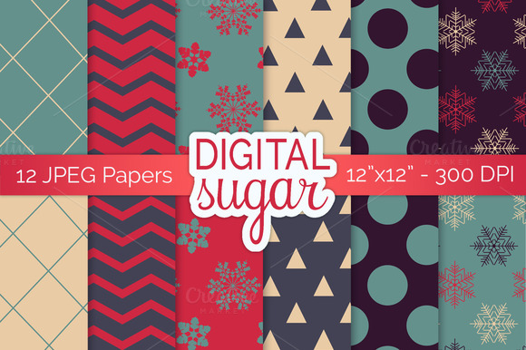 Christmas Digital Papers Xmas