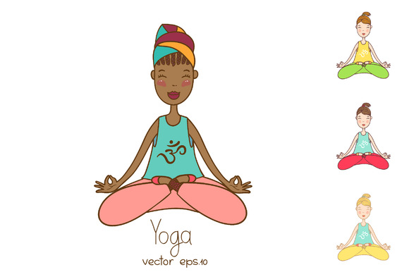 Yoga Collection In Vector Eps.10