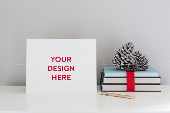 Christmas Stationery Paper Mockup