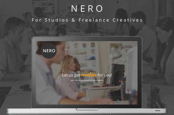 Nero One Page Creative Theme