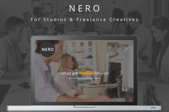Nero One Page Creative Theme